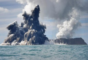 Tonga under the sea volcano